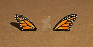 Monarch Butterfly Wing Earrings by youngclerks