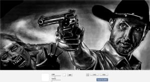 Walking Dead - Rick Grimes first season - zombie by BlackSheep3000