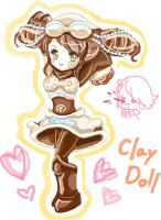Clay doll by curamix666
