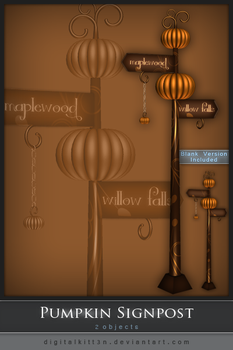 Pumpkin Signpost by Stars-of-Nevaeh