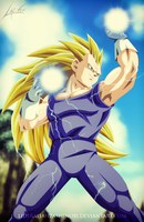 Vegeta Super Saiyan 3 by LiderAlianzaShinobi