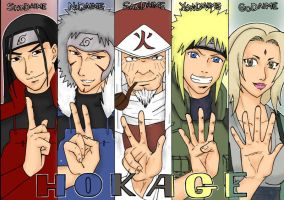 The 5 Hokages by YCHN