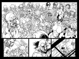 Avengers Initiative 15 inks by harveytolibao