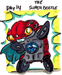 30characters - day 14 - the superbeetle by not-fun