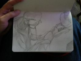 Quick sketch while on deployment by Coffeartst