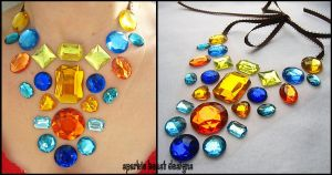 Orange and Blue Necklace by Natalie526