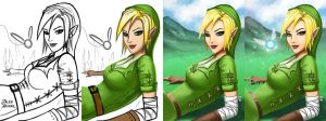 Process - Lady Link by jaleh