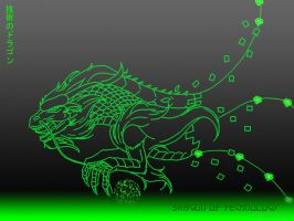 Dragon of Technology Wallpaper by Imerei