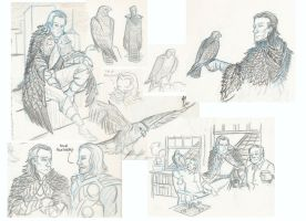 An Ornithological Patchwork Sketchdump by VanHinck