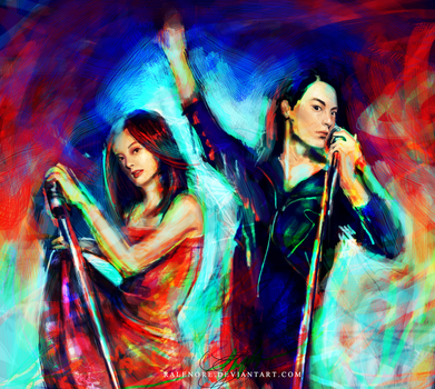 [mouse art 2012] miki and shuji singing by Ralenore