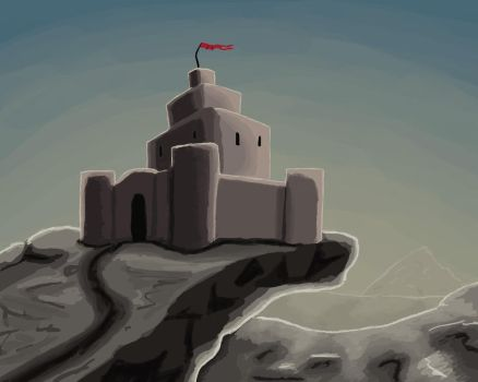 Daily art: 04 Castle on the edge by busch-art