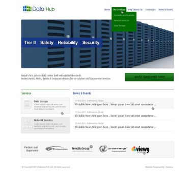 Data Center Web design by View9