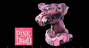 THE PINK DROID by angelitoon