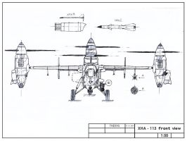 XHA-113 front view by TheXHS