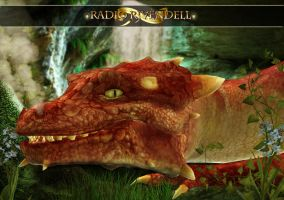 Radio Rivendell Dragon wall by Everild-Wolfden