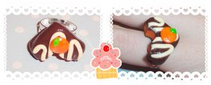 Scented -Chocolate orange ring by neko-crafts