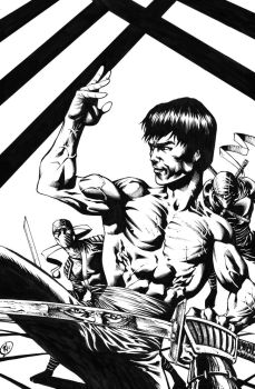 BRUCE LEE Vs Ninja's INKed Final by RudyVasquez