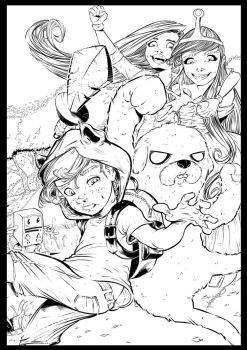 Adventure Time cover by leoilustra
