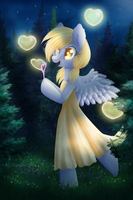 Derpy and bubbles heart by 0okami-0ni