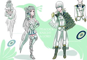 (OPEN) Peacock Knight and Lord Adopts by Usa-mero