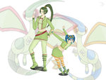 Flygals - Flygon Gijinkas by Crazy-Intense-Art