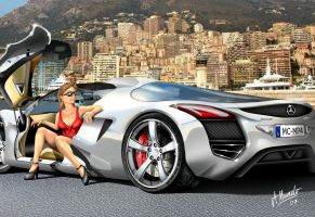 Mercedes Mclaren MP4 in Monaco by armandodesign