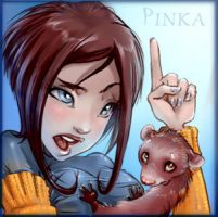 Girl_Ferret by PinkaCat