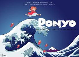 Ponyo rides the waves by transparentdreaming
