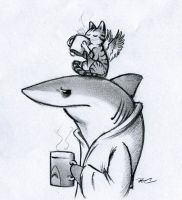 Coffee Shark by RobtheDoodler