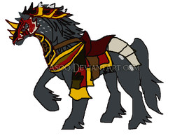 Xedralkana Request: Dragonfire's horse by Asoq
