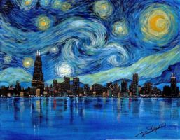 Starry Chicago by RoseZ93