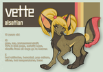 vette - mascot entry by GlitterPaws