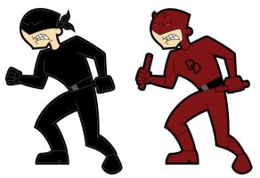 Daredevil Retro Toon by JK-Antwon