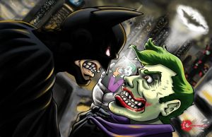 Joker and the Bat by The-Internationalist