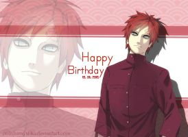 Happy birthday, Gaara (2015) by PolishaMyshka