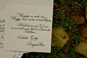 calligraphy invitation by omerfarukciftci