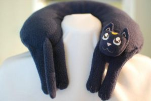 Luna from Sailor Moon Travel neck pillow by Justenjoyinglife