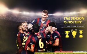 FC Barcelona CHAMPIONS 2015 HD WALLPAPER by SelvedinFCB