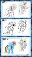 Step by step pony by Adlynh
