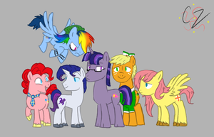 Look-a-Likes Mane Six by Caroline263