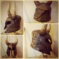 skyrim Nordic helmet build, horns need work.  by Matson23
