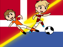 Denmark vs. The Netherlands by lucida-lownes