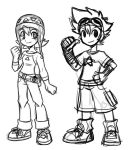 Sora and Tai rough redesigns by rongs1234
