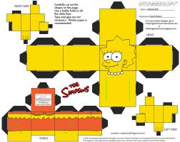 Simpsons1: Lisa Simpson Cubee by TheFlyingDachshund