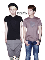 SHINee Onew and Key HQ Oh! Boy Render by pocket-girl