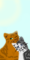 Foxleap X Ivypool Bookmark by Spottedmoth321
