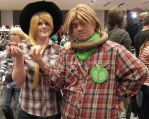 Applebucking Siblings At That There Ohayocon by GeronKizan