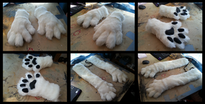 Dingowolf Handpaws by CuriousCreatures
