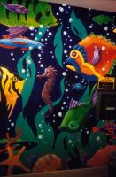 Blue Parrot Mural by ColbyBluth