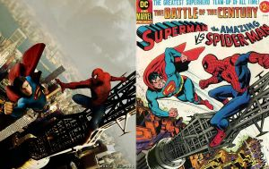 Superman vs Spiderman vs Cover by Egohugo